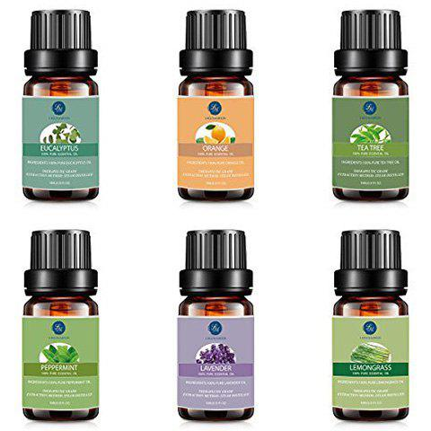 Affordable 6Pcs Premium Therapeutic Natural Essential Oil Kit - BLACK  Mobile