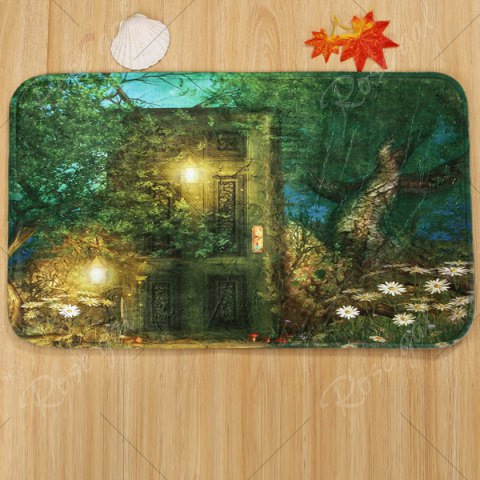 Outfits 3Pcs Fairy Forest Mats Set For Bathroom Decor - GREEN  Mobile