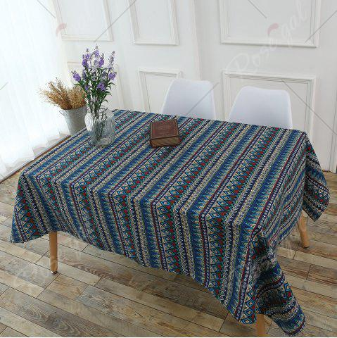 Discount Bohemia Zigzag Printed Tablecloth - W55 INCH * L55 INCH COLORFUL Mobile