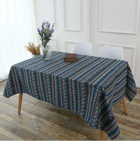 Chic Bohemia Zigzag Printed Tablecloth - W55 INCH * L55 INCH COLORFUL Mobile