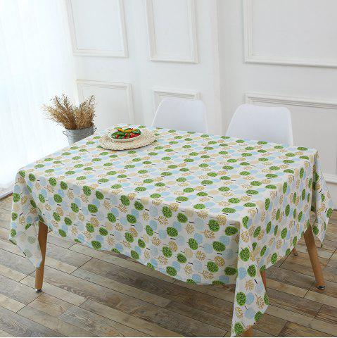 Shop Trees Pattern Kitchen Decor Table Cloth GREEN W55 INCH * L40 INCH