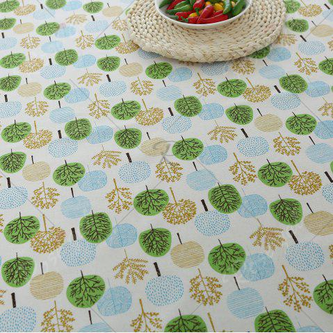 Best Trees Pattern Kitchen Decor Table Cloth - W55 INCH * L55 INCH GREEN Mobile