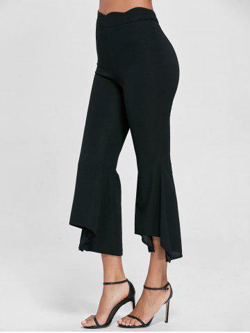 Discount Scalloped Flare Pants BLACK L