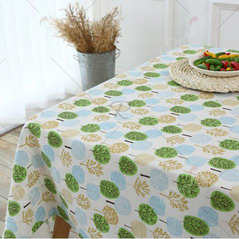 Buy Trees Pattern Kitchen Decor Table Cloth - W55 INCH * L71 INCH GREEN Mobile