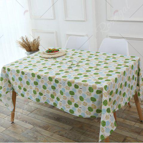 Buy Trees Pattern Kitchen Decor Table Cloth - W55 INCH * L78 INCH GREEN Mobile