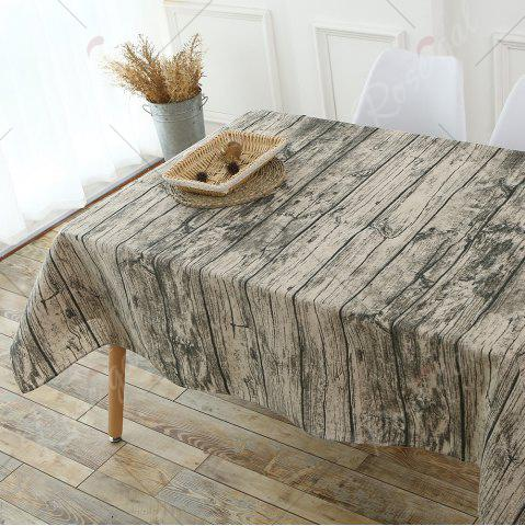 Online Original Wood Texture Kitchen Decor Table Cloth - W55 INCH * L55 INCH WOOD Mobile