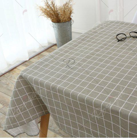 Trendy Grids Patterned Kitchen Decor Table Cloth - W55 INCH * L78 INCH PURE COLOR Mobile