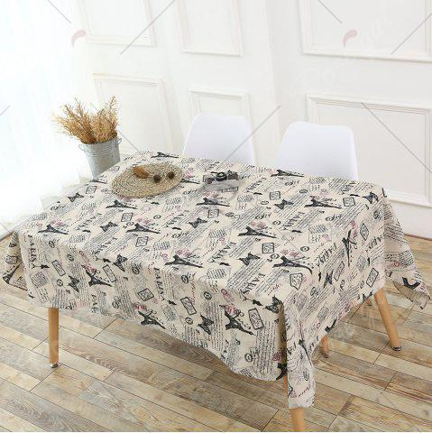 Outfits Kitchen Decor Tower Words Pattern Table Cloth - W55 INCH * L71 INCH GRAY Mobile