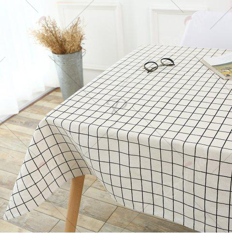 Chic Plaids Patterned Kitchen Decor Tablecloth - W55 INCH * L40 INCH WHITE Mobile