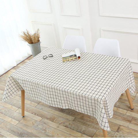 Buy Plaids Patterned Kitchen Decor Tablecloth - W55 INCH * L71 INCH WHITE Mobile