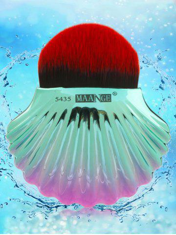 Unique Two Tone Ocean Shell Shape Foundation Brush - BLACK RED  Mobile