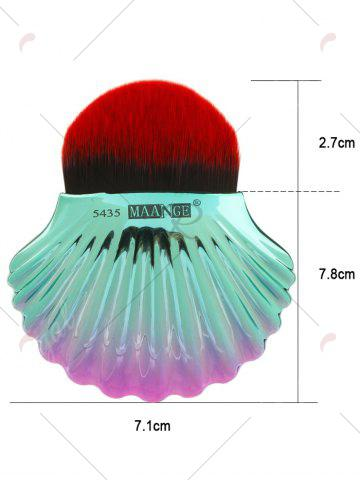 Discount Two Tone Ocean Shell Shape Foundation Brush - BLACK RED  Mobile