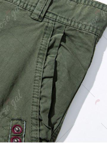 Outfits Pockets Embellished Zipper Fly Cargo Pants - 30 ARMY GREEN Mobile