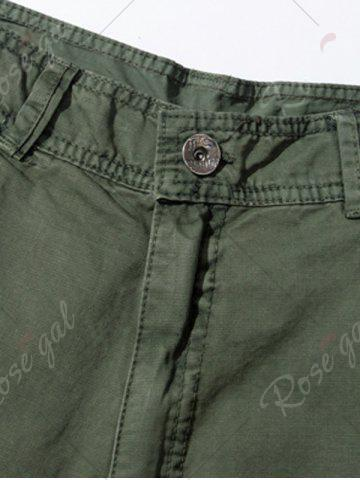 Discount Pockets Embellished Zipper Fly Cargo Pants - 30 ARMY GREEN Mobile