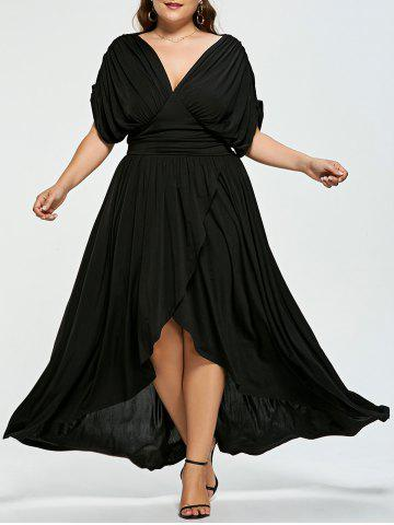 Trendy High Low Plus Size Maxi Flowy Dress