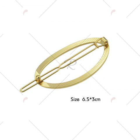 Online Alloy Decorative Oval Hairpin - GOLDEN  Mobile