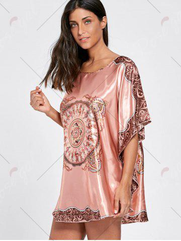 Outfits Batwing Sleeve Tunic Pajama Top - ONE SIZE WATERMELON RED Mobile