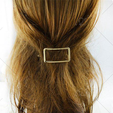 Outfits Alloy Decoration Geometric Hairpin - GOLDEN  Mobile