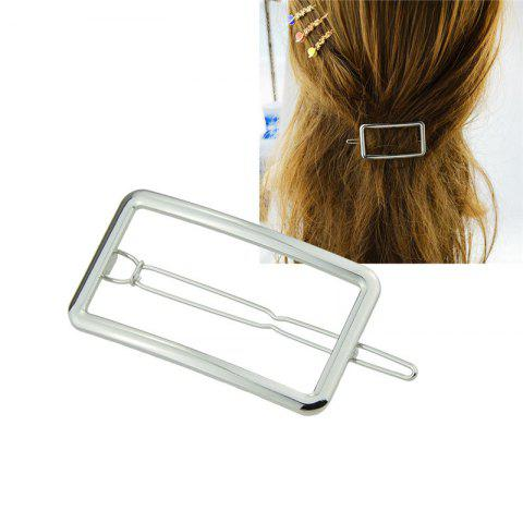 Trendy Alloy Decoration Geometric Hairpin SILVER