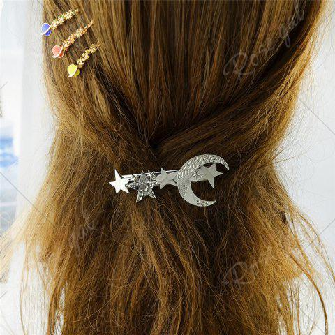 Outfit Star Moon Hair Decoration Barrette - SILVER  Mobile