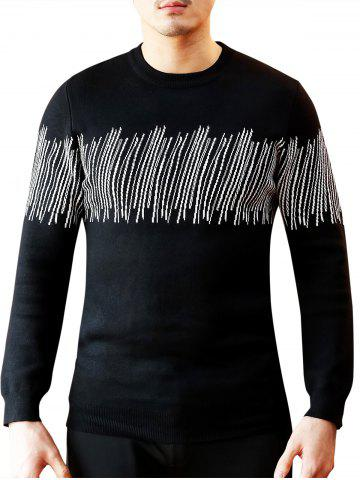 Affordable Lines Pattern Crew Neck Sweater