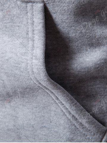 Affordable 3D Photo Print Graphic Fleece Hoodie - 3XL LIGHT GRAY Mobile