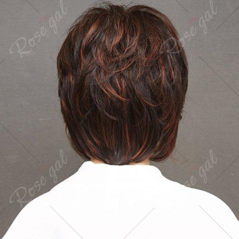 Online Short Side Bang Layered Straight Highlight Synthetic Wigs - COLORMIX  Mobile