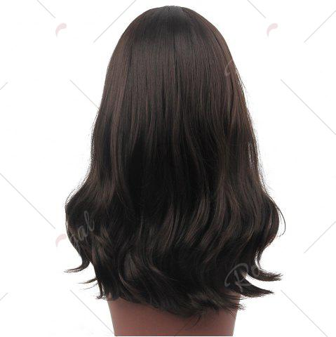 Store Center Part Wavy Long Synthetic Wig - BLACK  Mobile