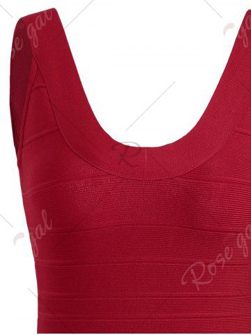 Affordable Club Sleeveless Mini Bandage Fitted Tight Dress - S RED Mobile