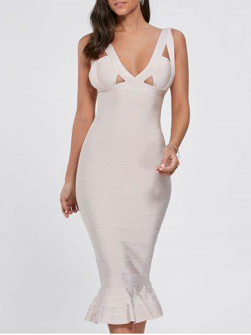 Maxi Mermaid Cut Out Bandage Dress