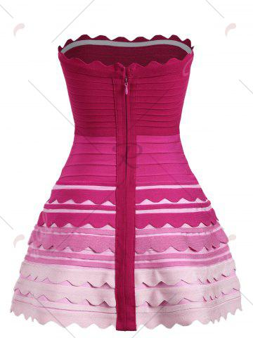 Outfits Night Out Ombre Color Tube Bandage Dress - S ROSE RED Mobile