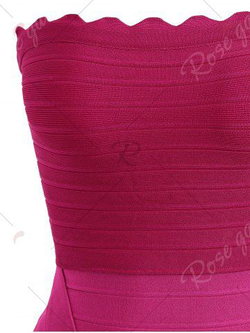 Fancy Night Out Ombre Color Tube Bandage Dress - S ROSE RED Mobile