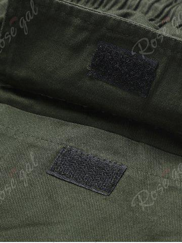 Chic Back Pockets Drawstring Beam Feet Jogger Pants - L ARMY GREEN Mobile
