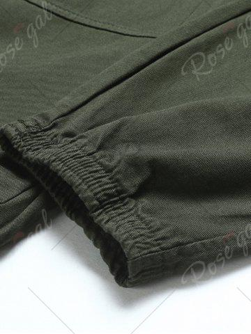 Latest Back Pockets Drawstring Beam Feet Jogger Pants - L ARMY GREEN Mobile