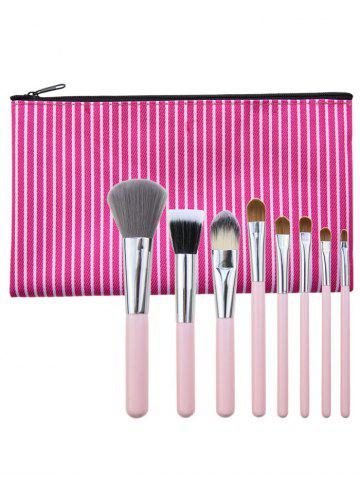 Kit de pinceaux à maquillage à usage multiple portable de 8 pcs