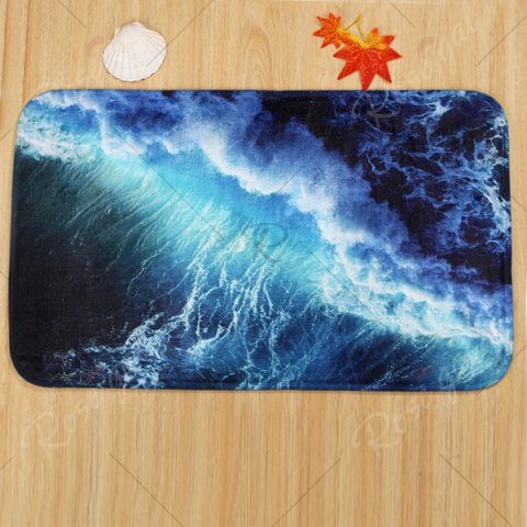 Discount 3 Pieces Sea Surge Non Slip Bathroom Mats Set - DEEP BLUE  Mobile
