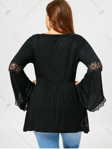 Outfit Plus Size Flared Sleeve Empire Waist T-shirt - XL BLACK Mobile