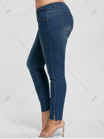 Buy Ankle Length Skinny Plus Size Jeans - 2XL DENIM BLUE Mobile