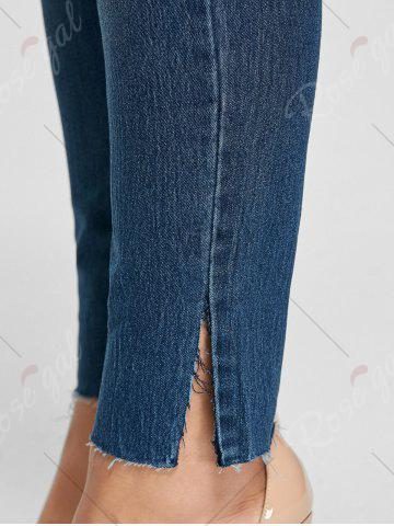Store Ankle Length Skinny Plus Size Jeans - 5XL DENIM BLUE Mobile