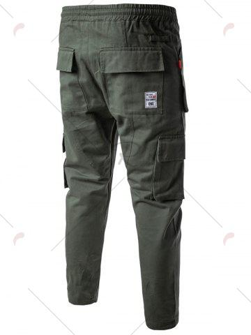 Unique Multi Pockets Nine Minutes of Cargo Pants - M ARMY GREEN Mobile