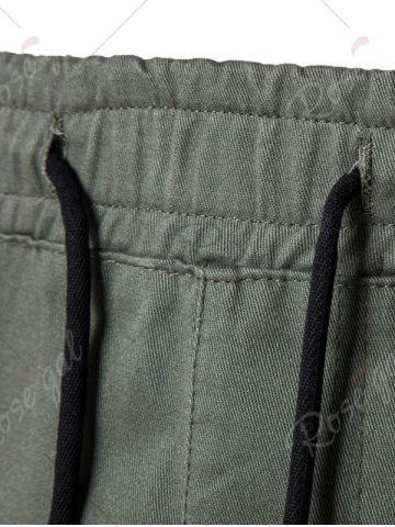 Fashion Multi Pockets Nine Minutes of Cargo Pants - M ARMY GREEN Mobile