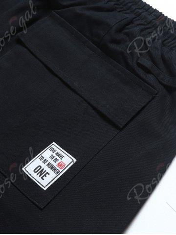 Unique Multi Pockets Nine Minutes of Cargo Pants - 3XL BLACK Mobile