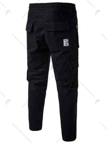Buy Multi Pockets Nine Minutes of Cargo Pants - 3XL BLACK Mobile
