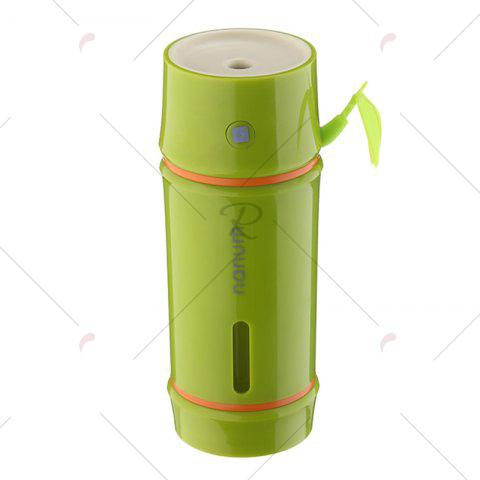 Latest Portable Bamboo Shape LED Night Light Mini Humidifier - YELLOW GREEN  Mobile