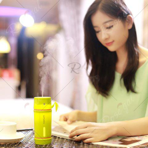 Online Portable Bamboo Shape LED Night Light Mini Humidifier - YELLOW GREEN  Mobile