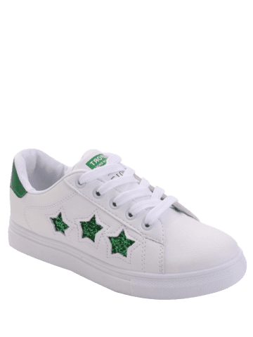 Outfit Sequins Star Pattern Flat Shoes - 39 GREEN Mobile
