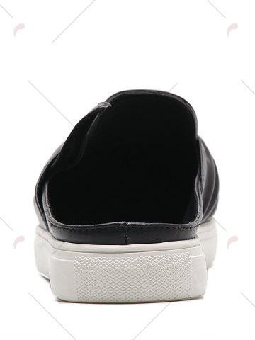 Chic Bowknot Ruched Slip On Flats - 39 BLACK Mobile