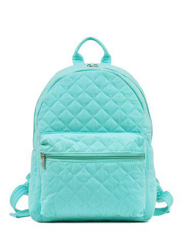 Chic Quilted Zippers Backpack
