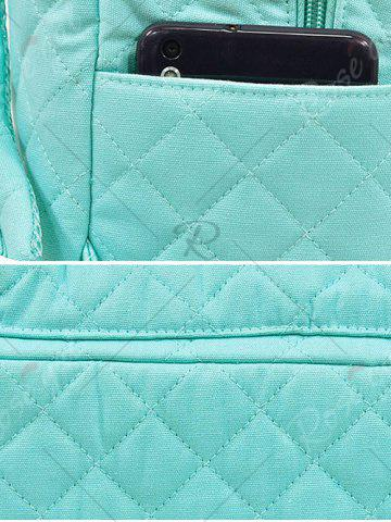 Trendy Quilted Zippers Backpack - BLACK  Mobile