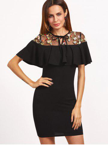 Shops Floral Embroidered Voile Panel Bodycon Dress